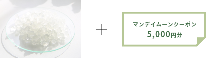 M&Pグリセリンソープ・クリア/500g+5,000円分マンデイムーンクーポン